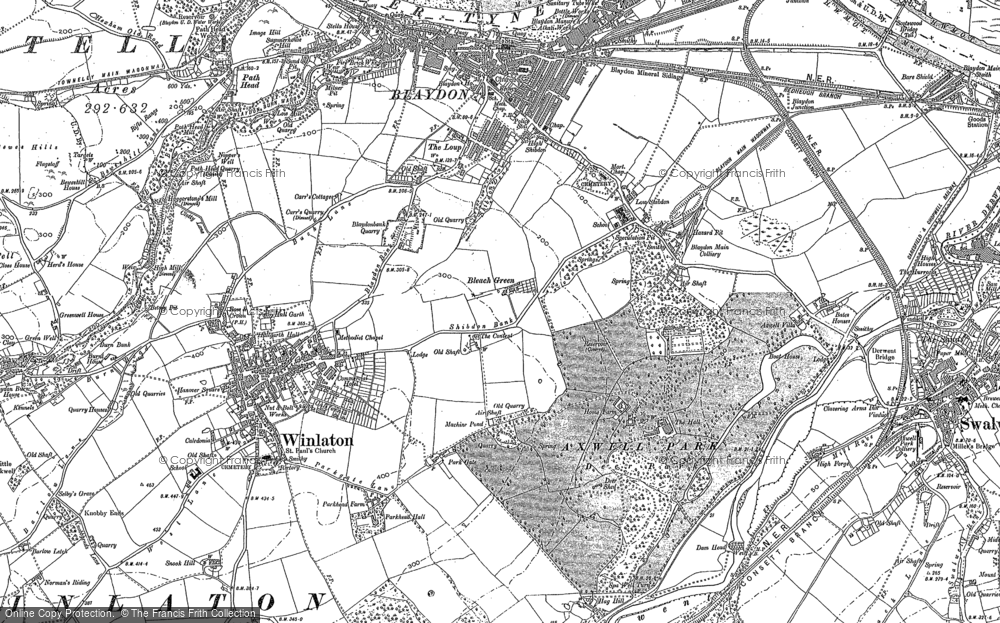 Old Map of Winlaton, 1895 - 1915 in 1895