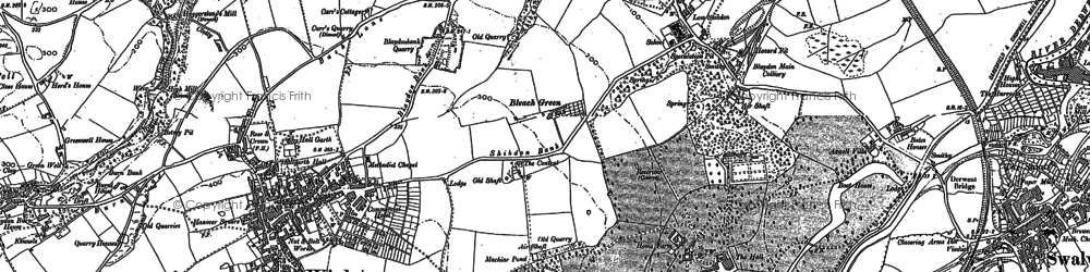Old map of Winlaton in 1895