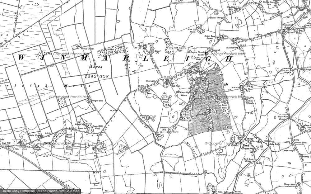 Old Map of Historic Map covering Lathwaite in 1910