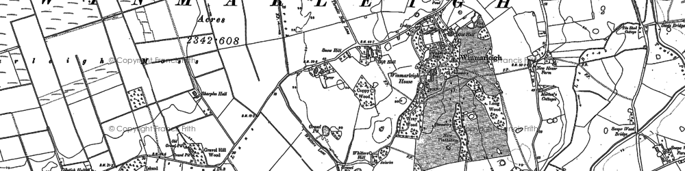 Old map of Whitters Hill in 1910