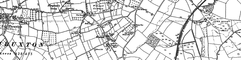 Old map of Winnal Common in 1886