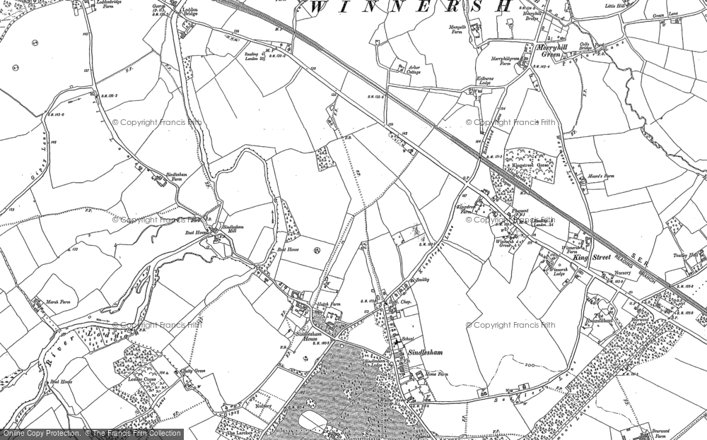 Map of Winnersh, 1898