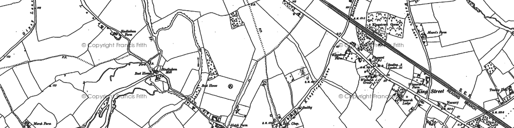 Old map of Winnersh in 1898