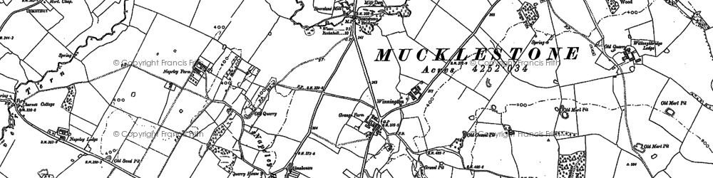 Old map of Winnington in 1879