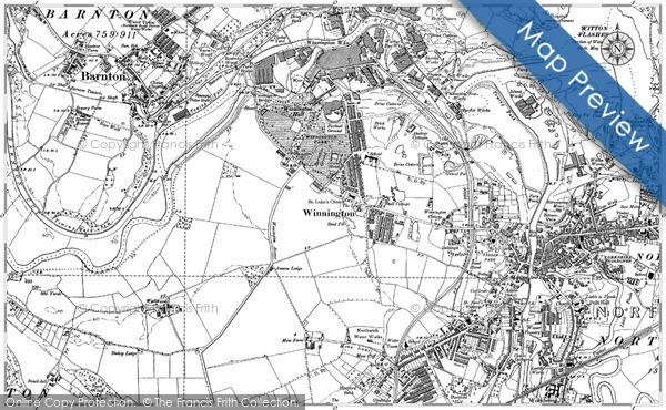 Historic Map covering Barnton Cut