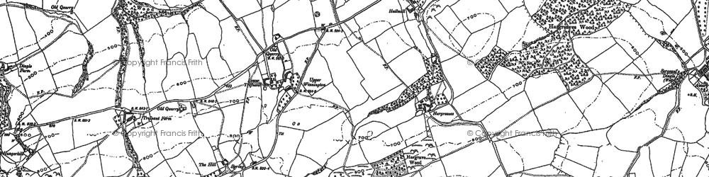 Old map of Winnington Green in 1901