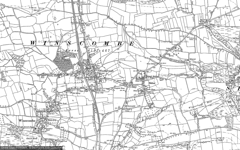 Map of Winscombe, 1884
