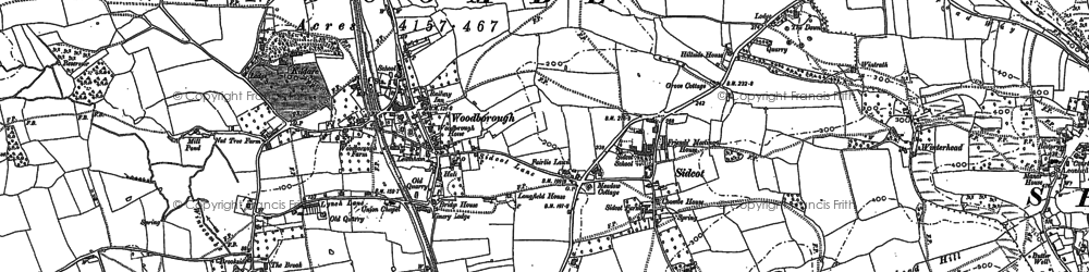 Old map of Winscombe in 1884