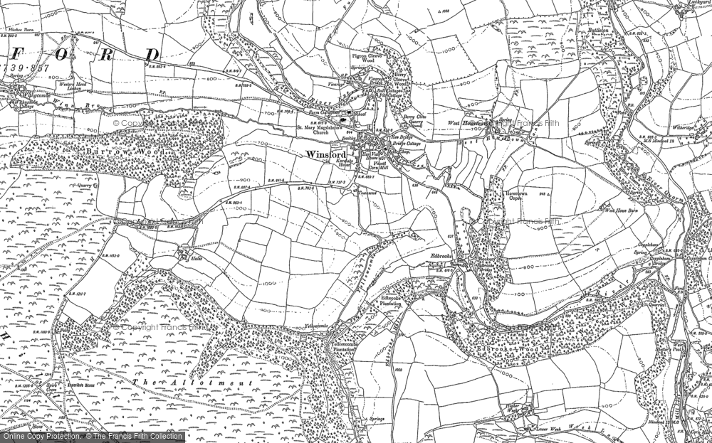Map of Winsford, 1888 - 1902