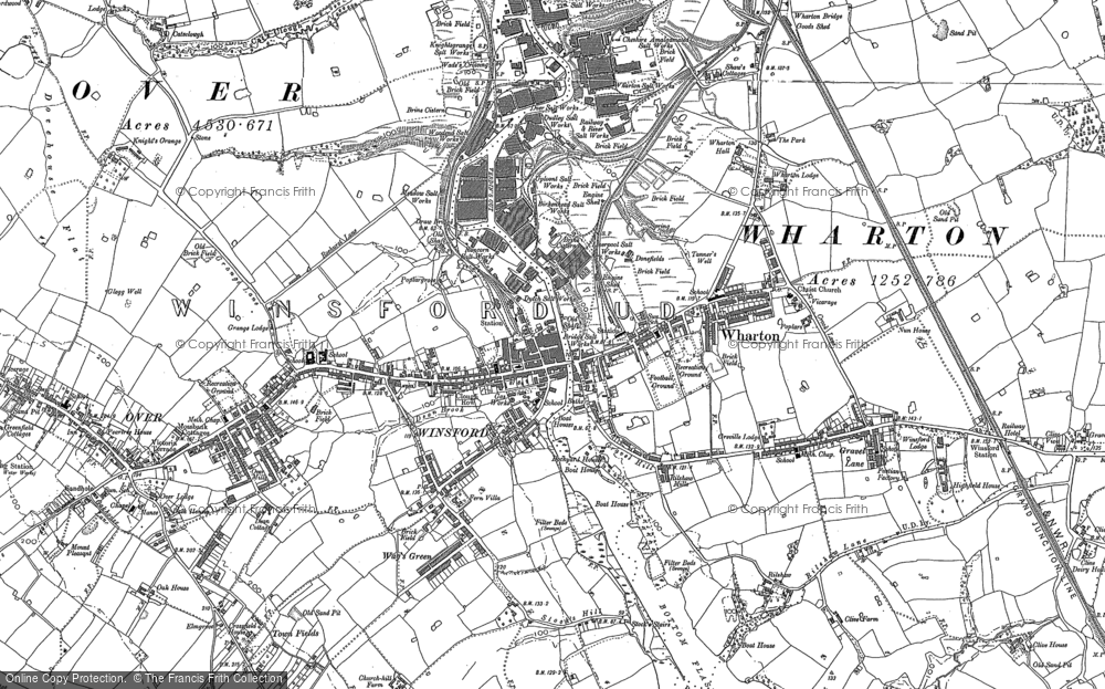 Map of Winsford, 1897