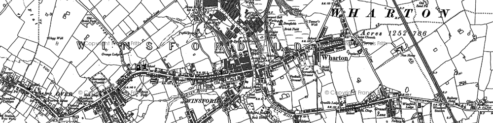 Old map of Winsford in 1897