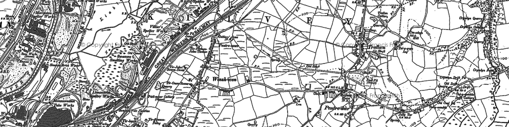Old map of Winsh-wen in 1897