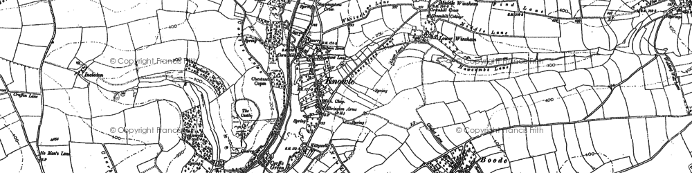 Old map of Winsham Down Ho in 1886