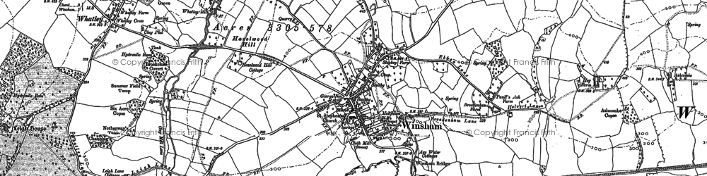 Old map of Whatley in 1901