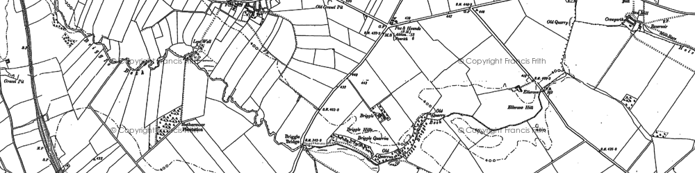 Old map of Winskill in 1898