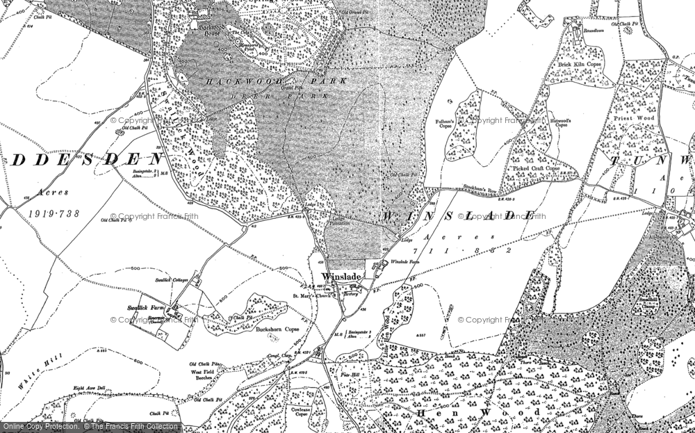 Old Map of Historic Map covering Audleys Wood in 1894