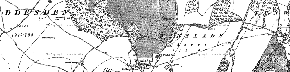 Old map of Allwood Copse in 1894
