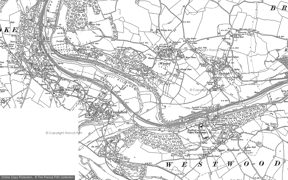 Old Map of Winsley, 1899 - 1922 in 1899