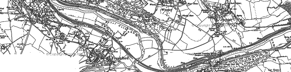 Old map of Winsley in 1899