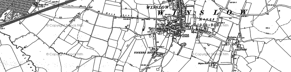 Old map of Winslow in 1898