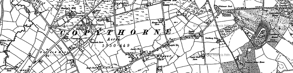 Old map of Winsor in 1895