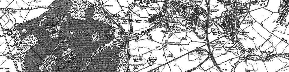 Old map of Winstanley in 1892