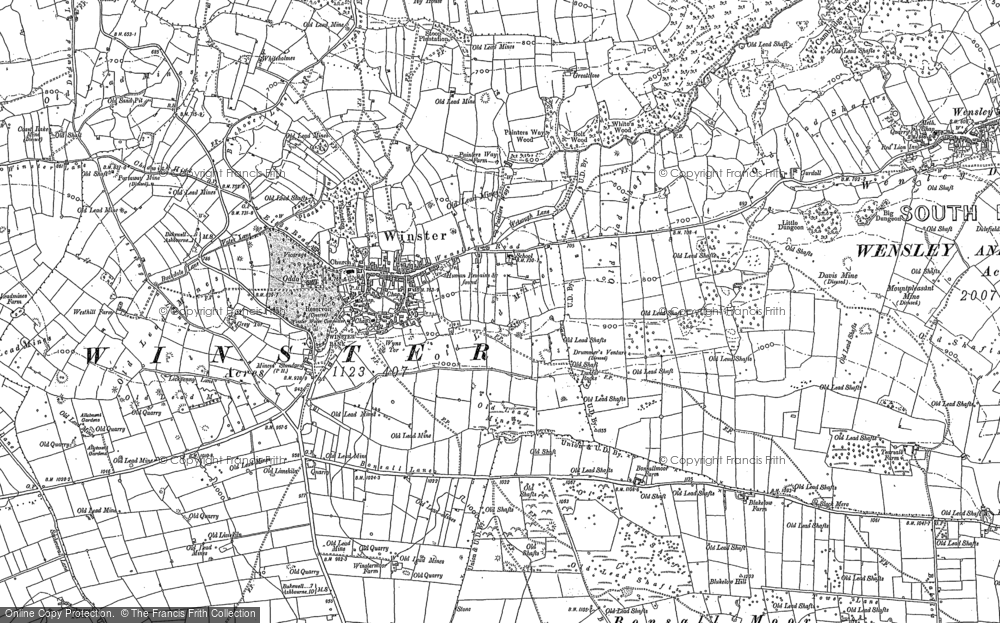 Map of Winster, 1878 - 1879