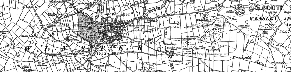 Old map of Winster in 1878