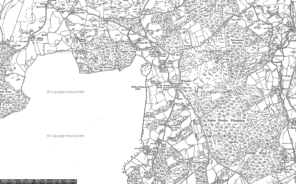 Map of Winster, 1912