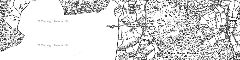 Old map of Winster in 1912