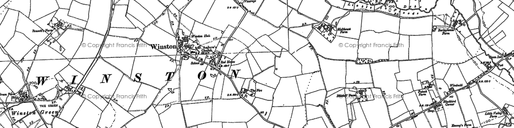 Old map of Winston in 1883