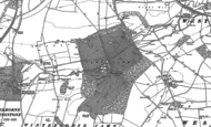 Old Map of Winterborne Came, 1886