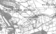 Old Map of Winterborne Houghton, 1887