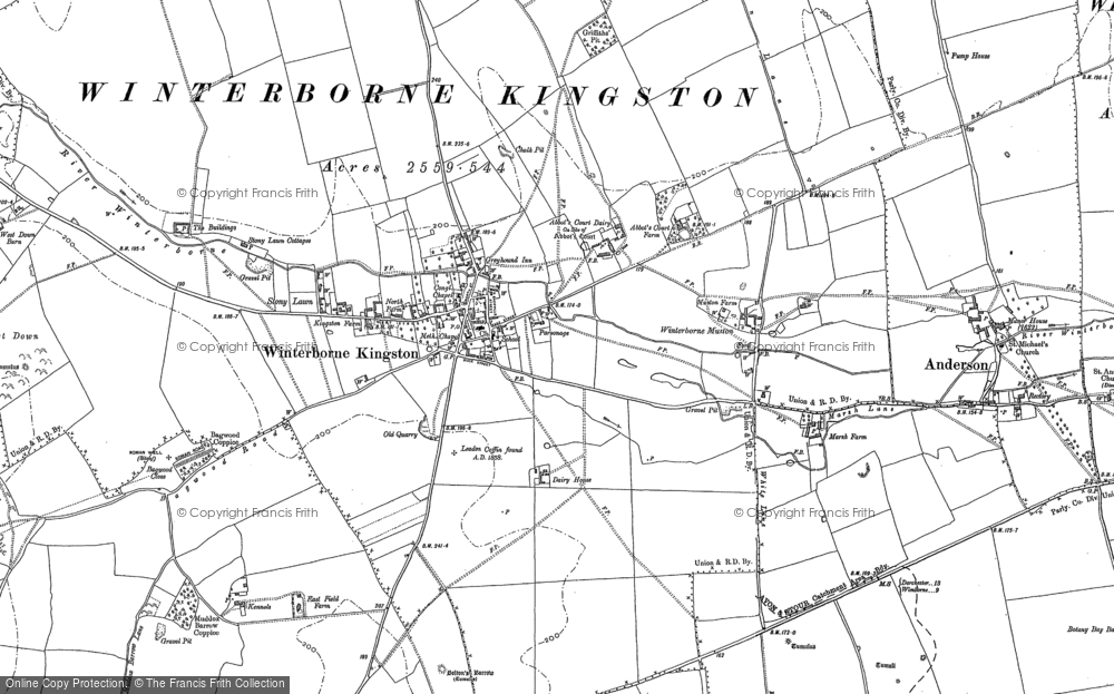 Old Maps of Winterborne Kingston Francis Frith