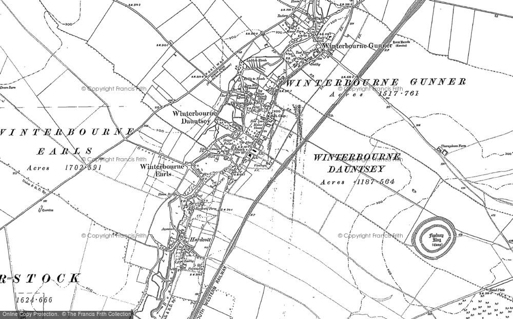 Winterbourne Earls, 1899 - 1923