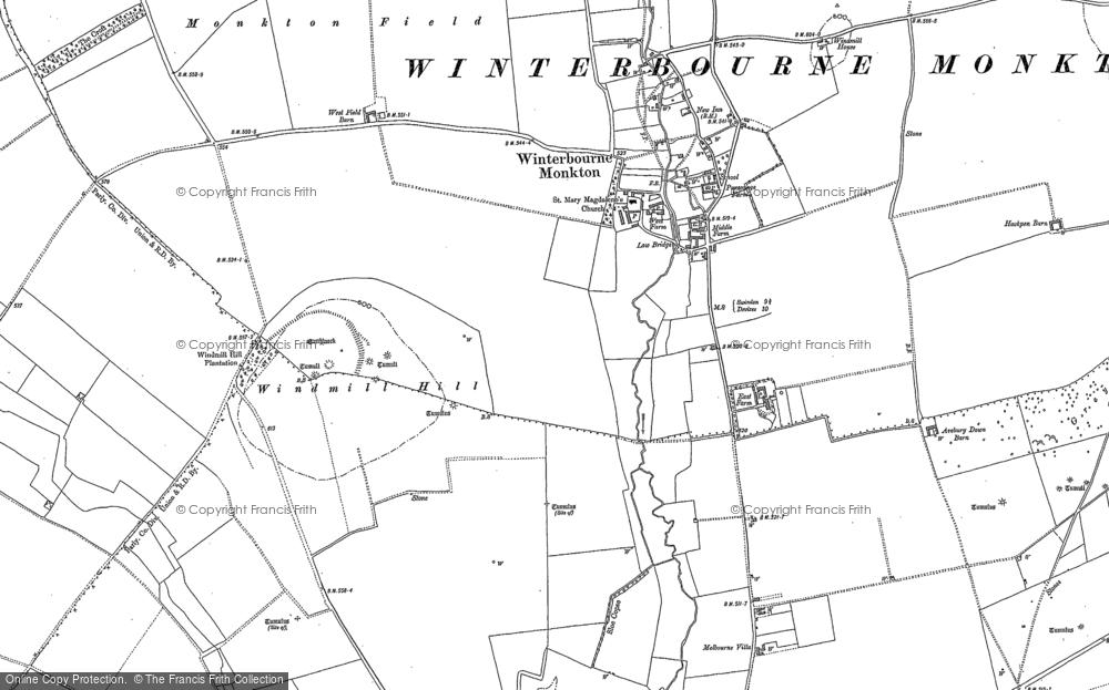 Winterbourne Monkton, 1899