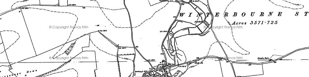 Old map of Airman's Corner in 1899