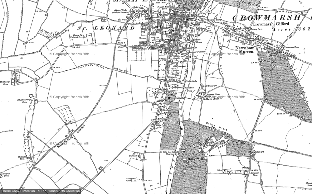 Old Map of Winterbrook, 1910 in 1910
