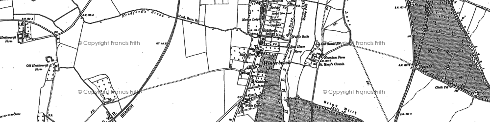 Old map of White Cross in 1910