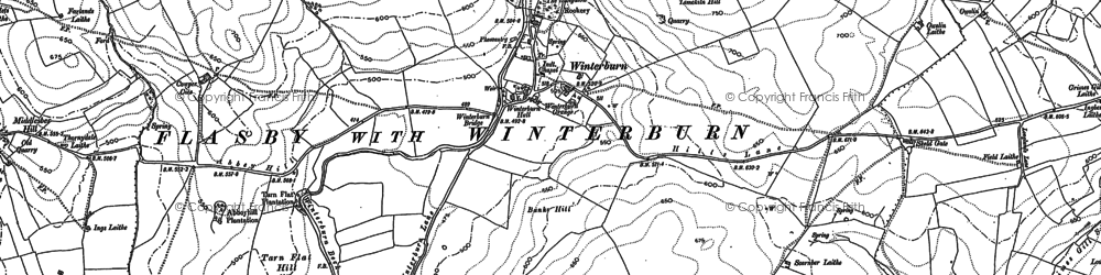 Old map of Windros Laithe in 1907