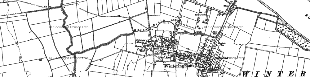 Old map of Winteringham Haven in 1885