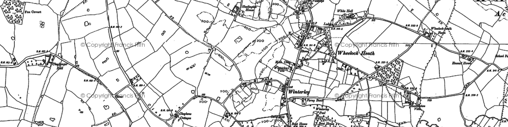 Old map of Wheelock Heath in 1897