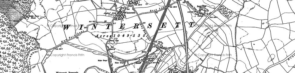 Old map of Wintersett in 1890