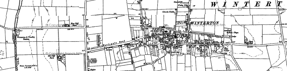Old map of Winterton in 1885