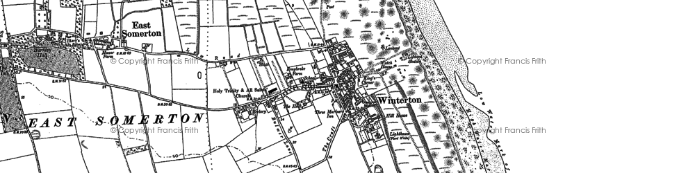 Old map of Winterton Ness in 1884