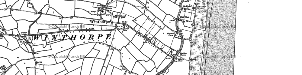 Old map of Winthorpe in 1904