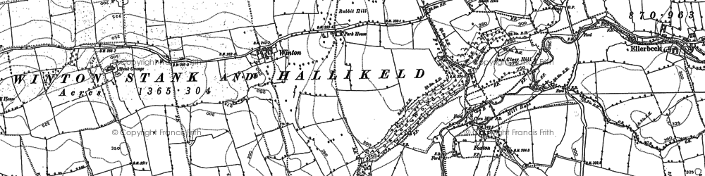 Old map of Winton in 1892