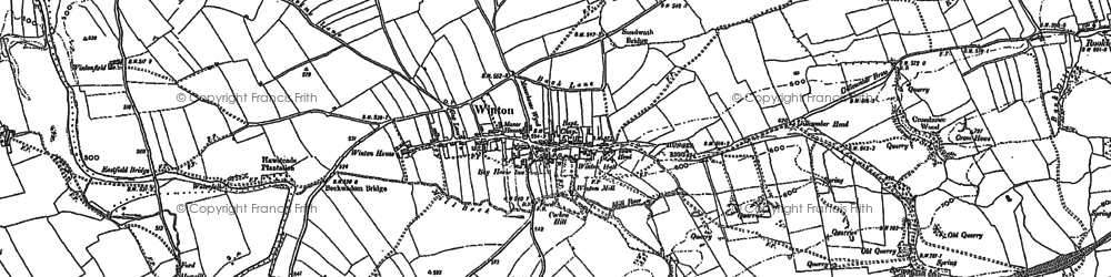 Old map of Winton Field in 1897