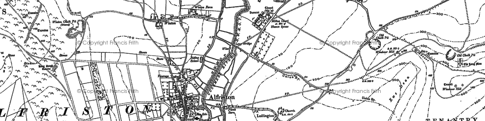 Old map of Winton in 1898
