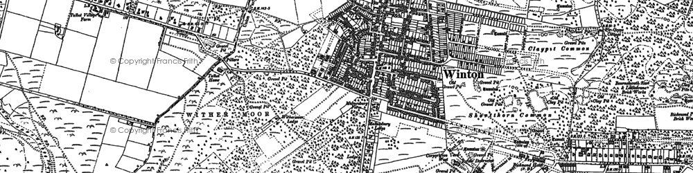 Old map of Winton in 1907